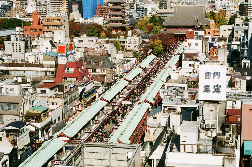 Район Асакуса, фото сверху