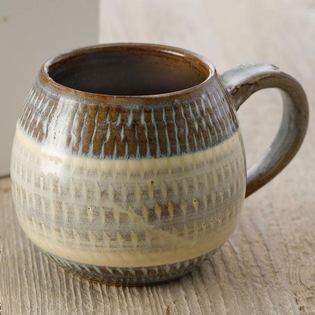 Керамическая кружка выполненная в техника тобиканна
